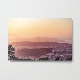 Evening San Francisco Hills Metal Print