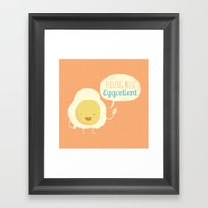 Most Eggcellent Framed Art Print