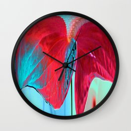 ABSTRACT FLORAL LANDSCAPE Wall Clock
