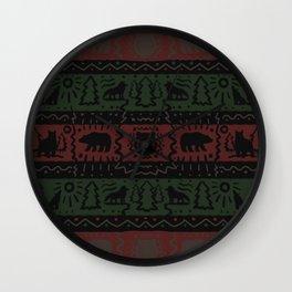 Lodge Pattern Wall Clock