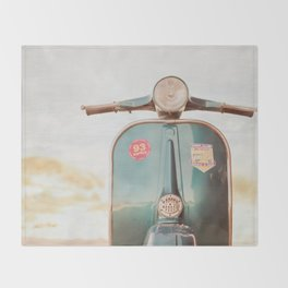 The Blue Vespa Throw Blanket