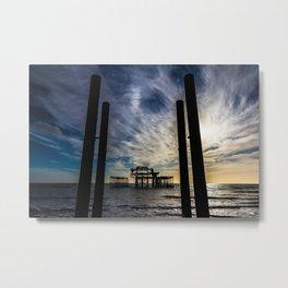 Brighton Seascape II Metal Print
