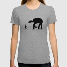 A Boy and His AT-AT SMALL Womens Fitted Tee Tri-Grey