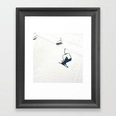 Chair lift shadow Framed Art Print