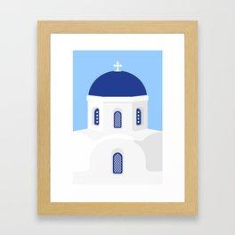 Santorini #02 Framed Art Print