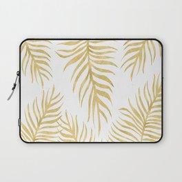 Fern Pattern Gold Laptop Sleeve