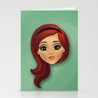 redhead Stationery Cards featuring Redhead by Lindella