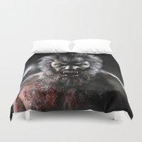 werewolf Duvet Covers featuring Werewolf by Joe Roberts