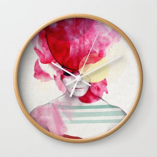 Bright Pink - Part 2 Wall Clock