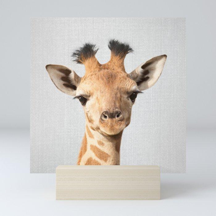 Baby Giraffe - Colorful Mini Art Print