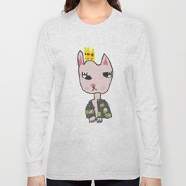 Cat Girl Kids Painting Long Sleeve T-shirt