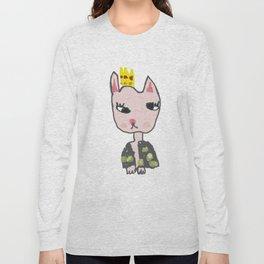 Cat Girl Kids Painting Long Sleeve T-shirt