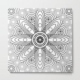 Atomic Structures Mandala Metal Print