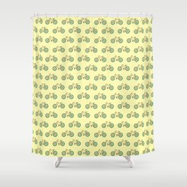 Bicycle Pattern Shower Curtain