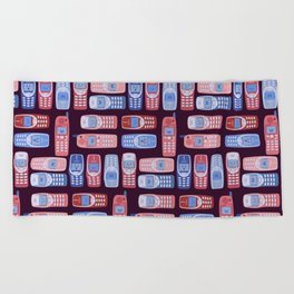 Vintage Cellphone Reactions Beach Towel