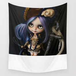 LADY BUCCANEER PIRATE OOAK BLYTHE ART DOLL Wall Tapestry