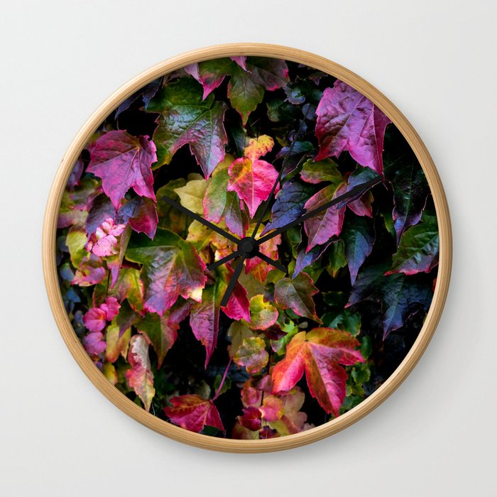 Boston Ivy Beauty Wall Clock