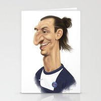 zlatan Stationery Cards featuring Ibrahimovic - PSG by Sant Toscanni