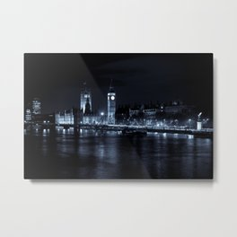 The river Thames and Westminster Metal Print