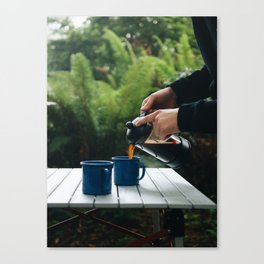 Coffee and Camping Canvas Print