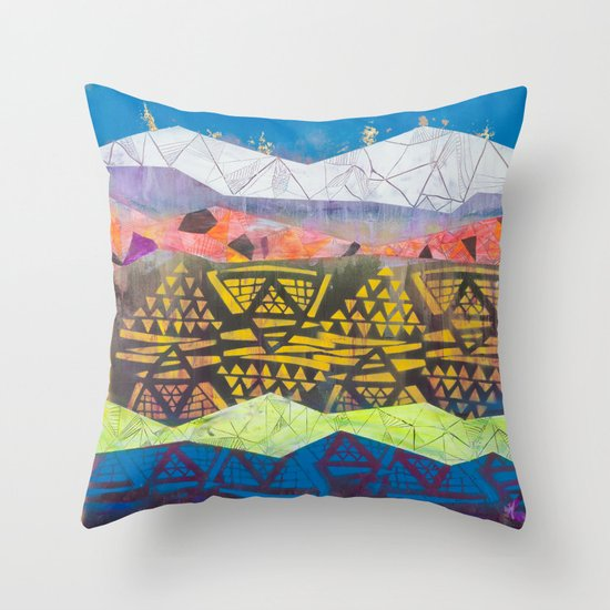 tropical fantasy soda Throw Pillow
