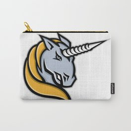Unicorn Head Mascot Carry-All Pouch