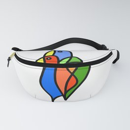 Two Colored Birds Fanny Pack