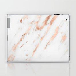 Pink Quartz Marble Rose Gold White Laptop & iPad Skin