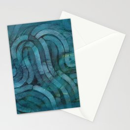 'Careful Where You Stand, In Aquamarin' Stationery Cards