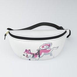 Pink Husky Running Fanny Pack