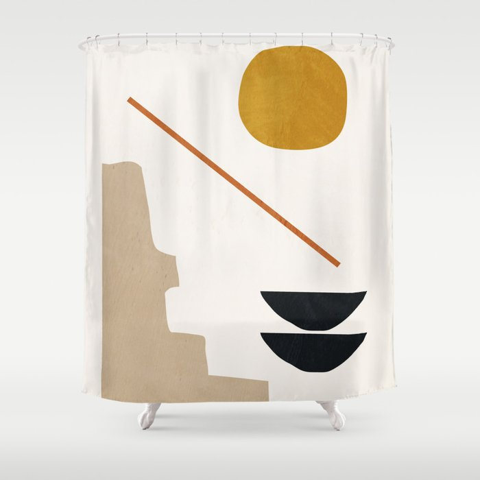 abstract minimal 6 Shower Curtain