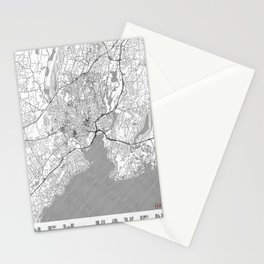 New Haven Map Line Stationery Cards