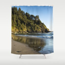 By the Side of the Sea Shower Curtain