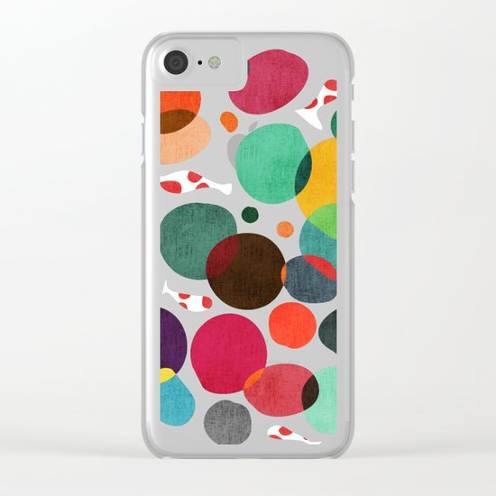 Lotus in koi pond Clear iPhone Case