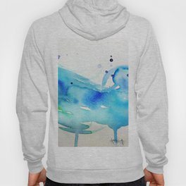 Watercolor Waves Hoody