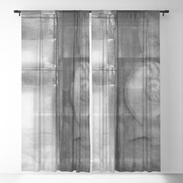 Nature Voices No.3o by Kathy Morton Stanion Sheer Curtain