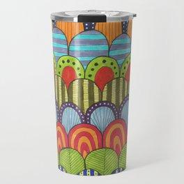 bright scalloped pattern 2 Travel Mug