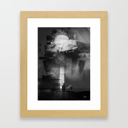 In the cold I'm standing Framed Art Print