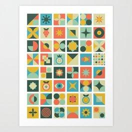 Geometric pattern #2 Art Print