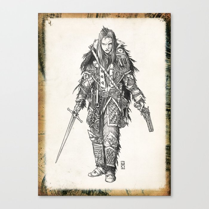 Raven Enclave Executioner Canvas Print