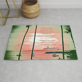 """Inspiration At Catalina"" with poem: My Own Day Rug"