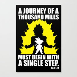 A Journey Of A Thousand Miles (Goku) Canvas Print