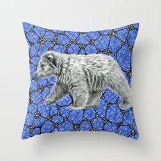 Polar Bear cub g016-006 Throw Pillow