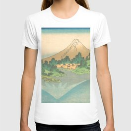 Reflection in Lake at Misaka in Kai Province, Thirty-six Views of Mount Fuji by Katsushika Hokusai T-shirt