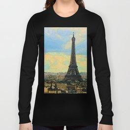 Watercolor Dream of Paris Long Sleeve T-shirt
