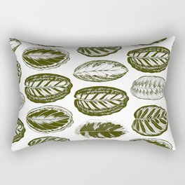 Ornamental tropical leaves Rectangular Pillow