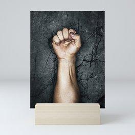 Protest fist Mini Art Print