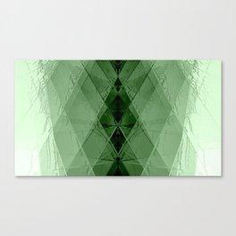 Geometric emerald stone crystal digital illustration Canvas Print