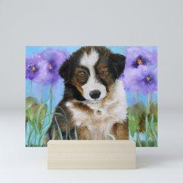 Shetland Sheepdog Puppy Baby Picture Mini Art Print