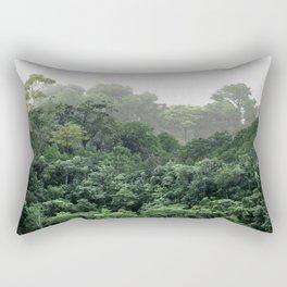 Tropical Foggy Forest Rectangular Pillow